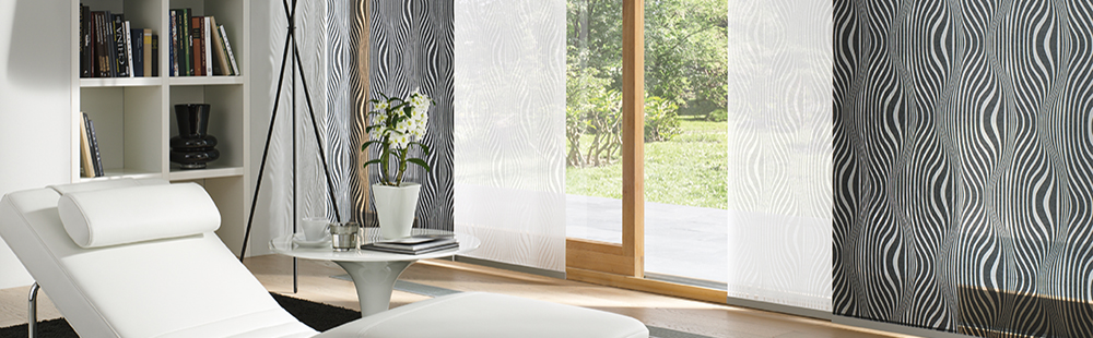 fl chenvorh nge f r grosse fenster und glasfronten mit. Black Bedroom Furniture Sets. Home Design Ideas